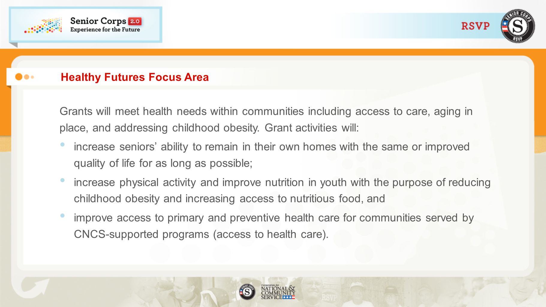 Healthy Futures Focus Area