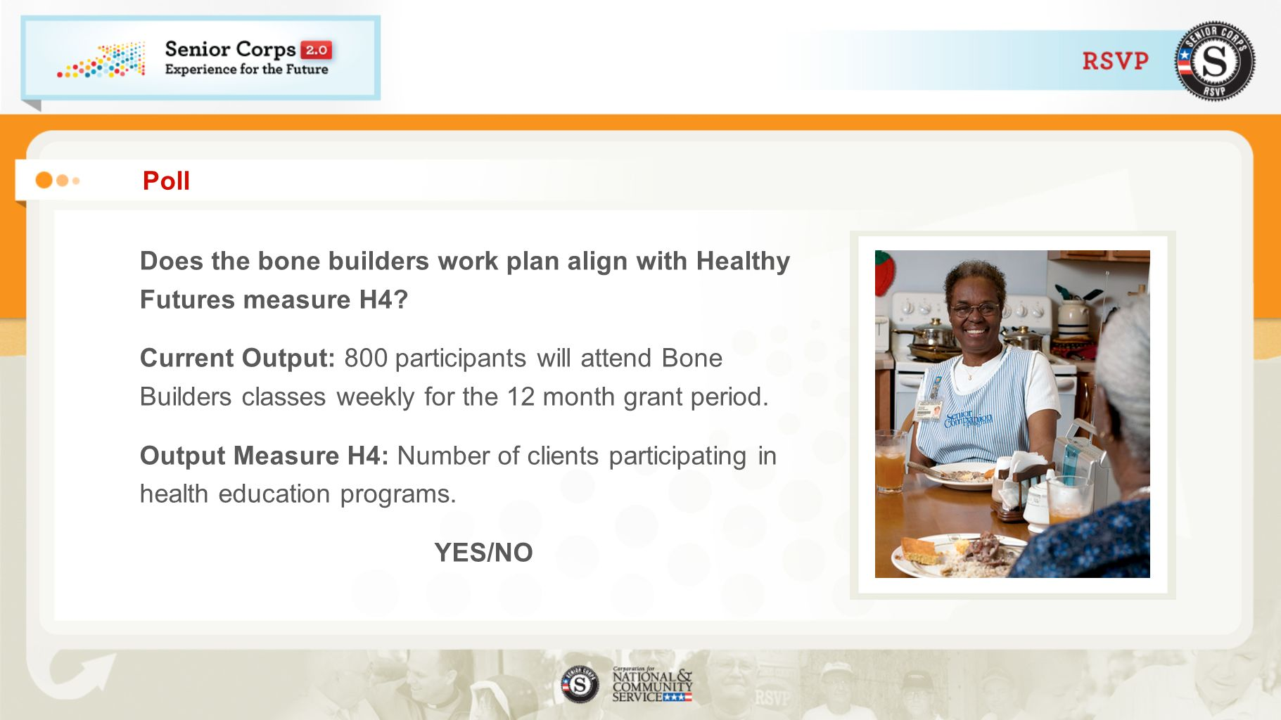 Poll Does the bone builders work plan align with Healthy Futures measure H4