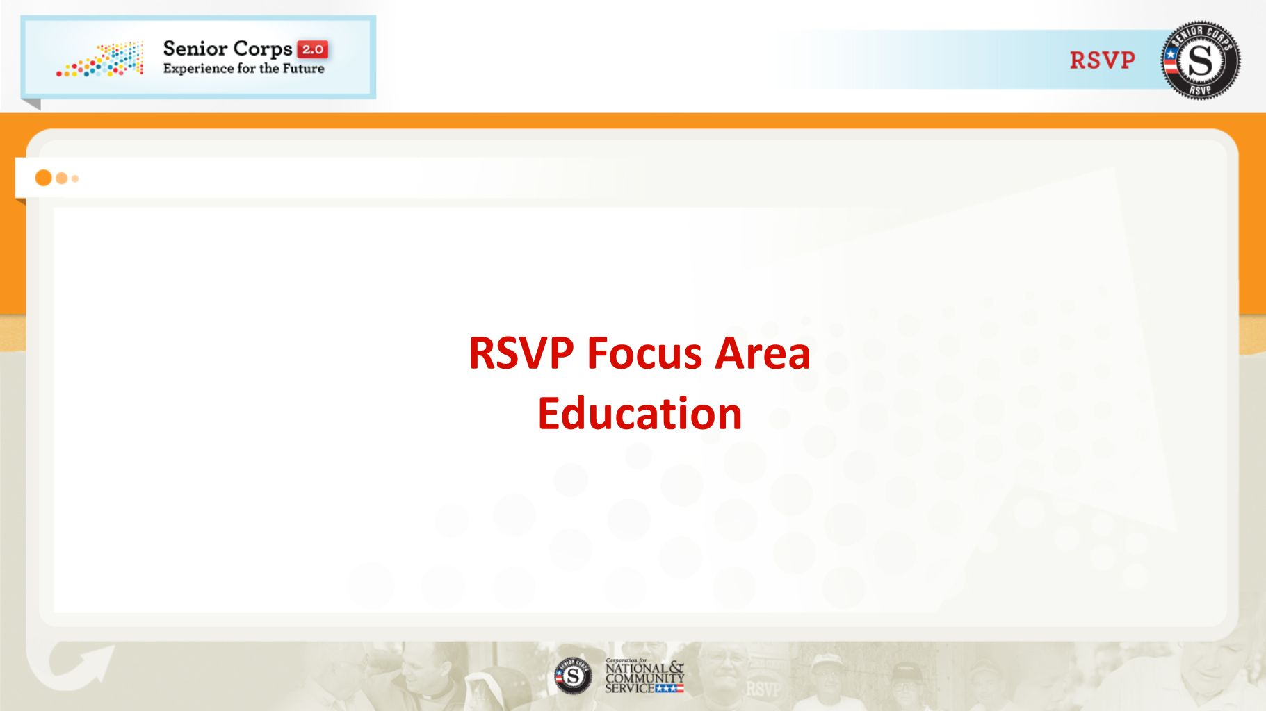 RSVP Focus Area Education
