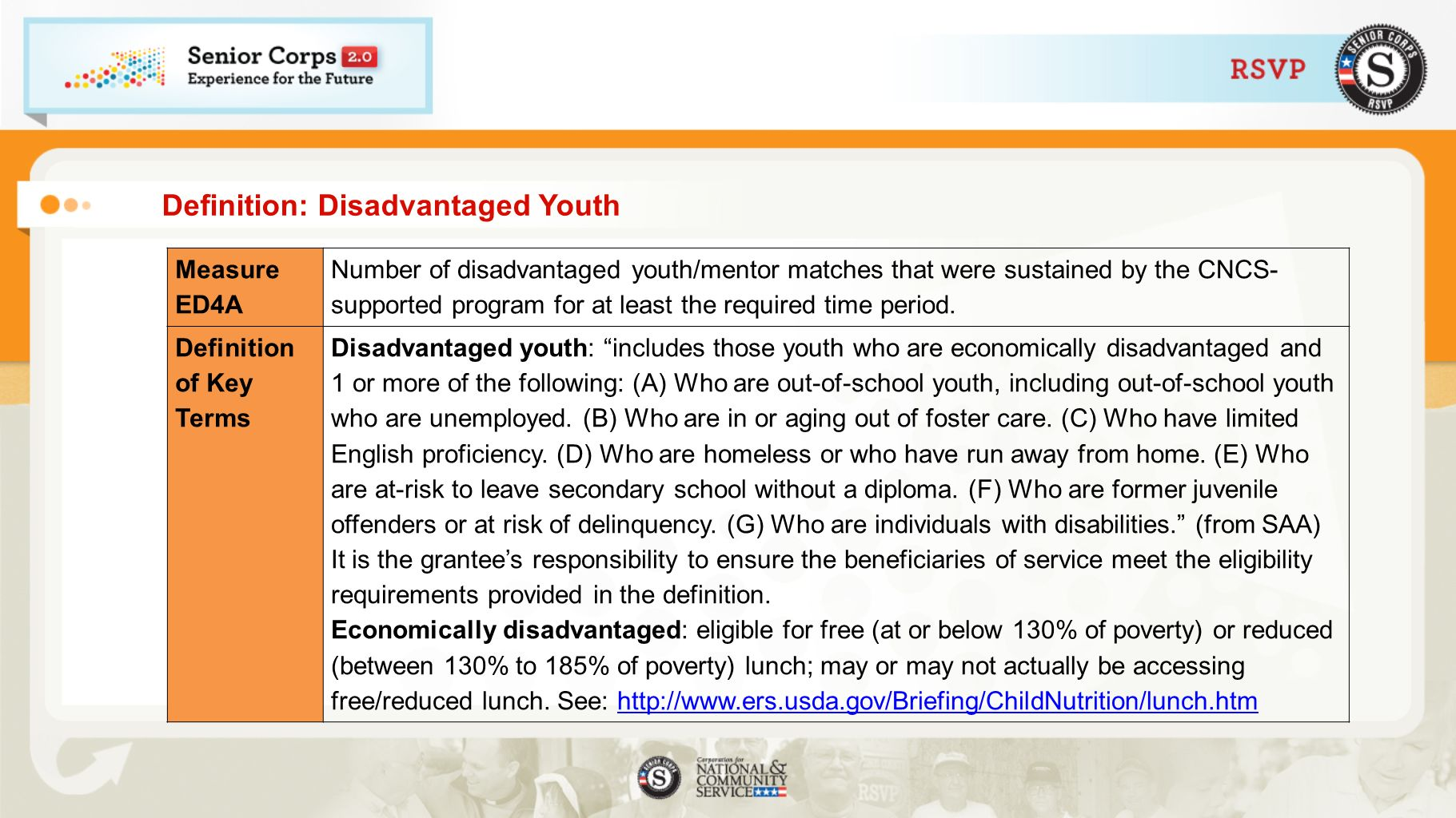 Definition: Disadvantaged Youth