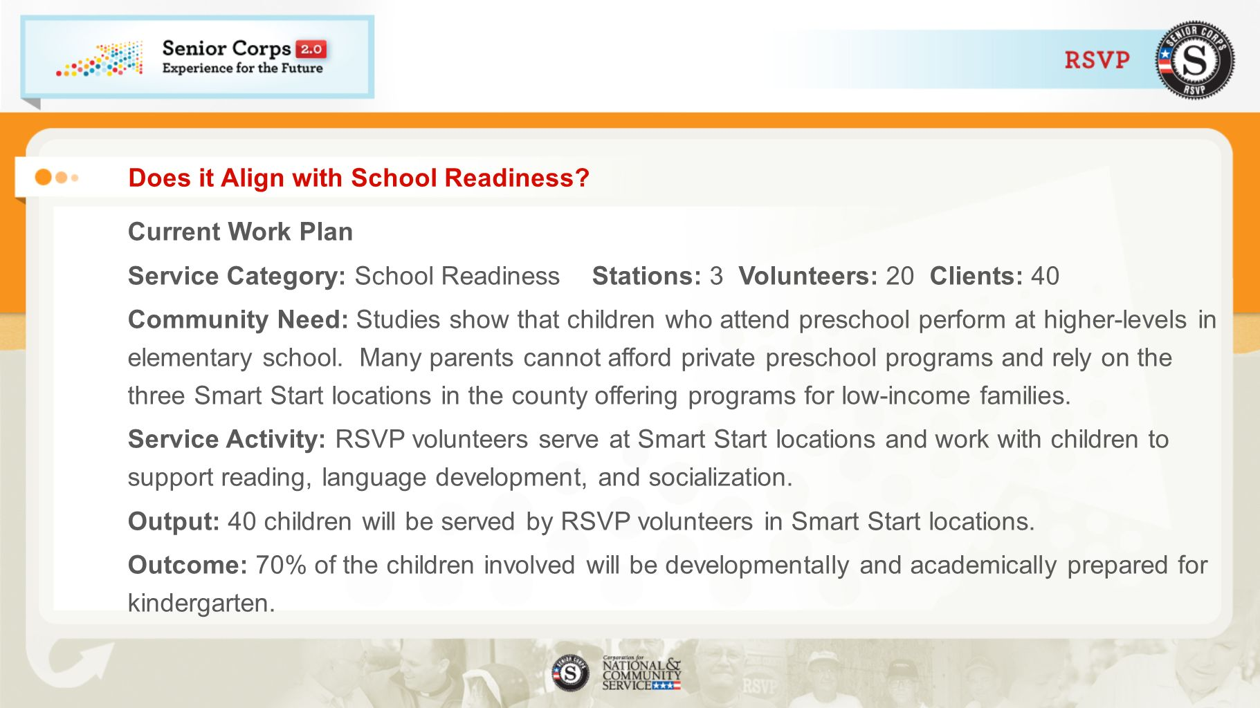 Does it Align with School Readiness