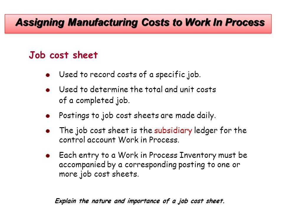 importance of process costing The integration of process and cost modeling—a powerful tool for business   or brake calipers represent an important market, both for original equipment.