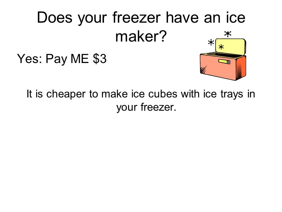 Does your freezer have an ice maker