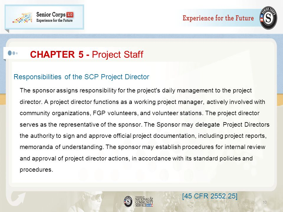CHAPTER 5 - Project Staff