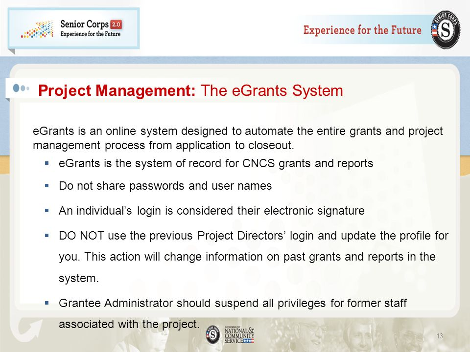 Project Management: The eGrants System