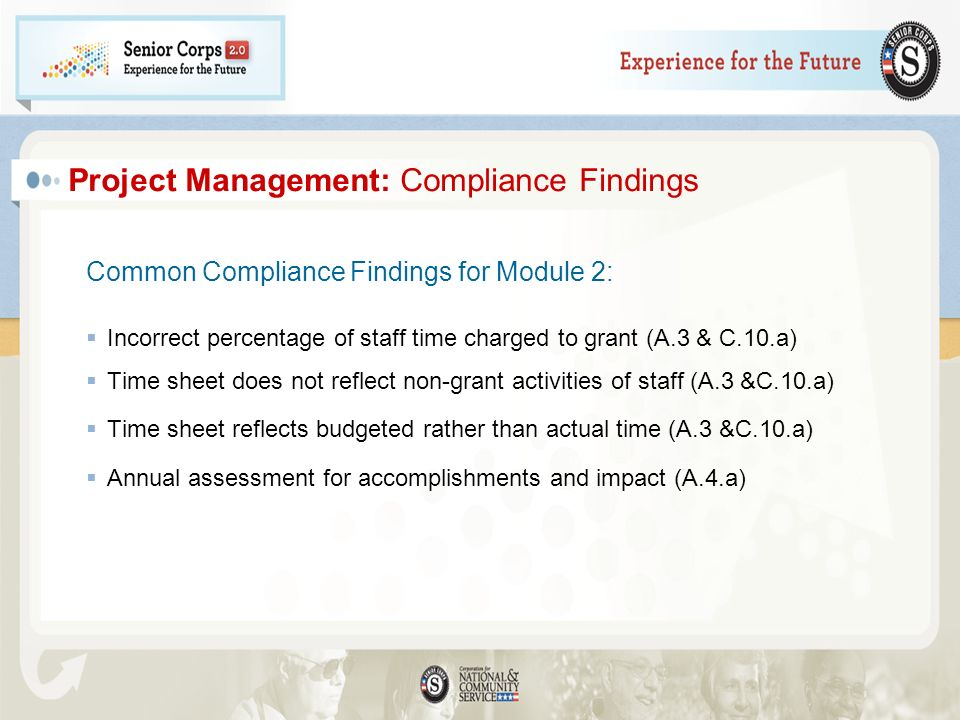 Project Management: Compliance Findings