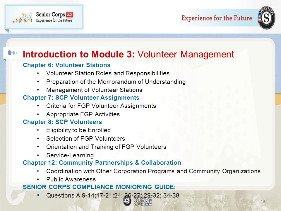 Introduction to Module 3: Volunteer Management