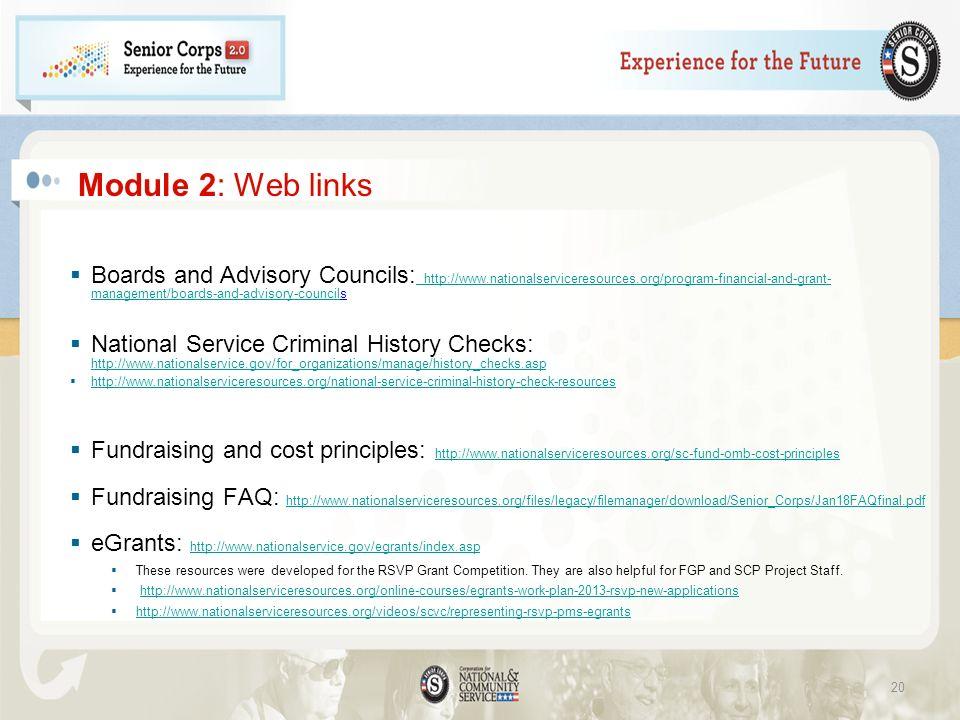 Module 2: Web links