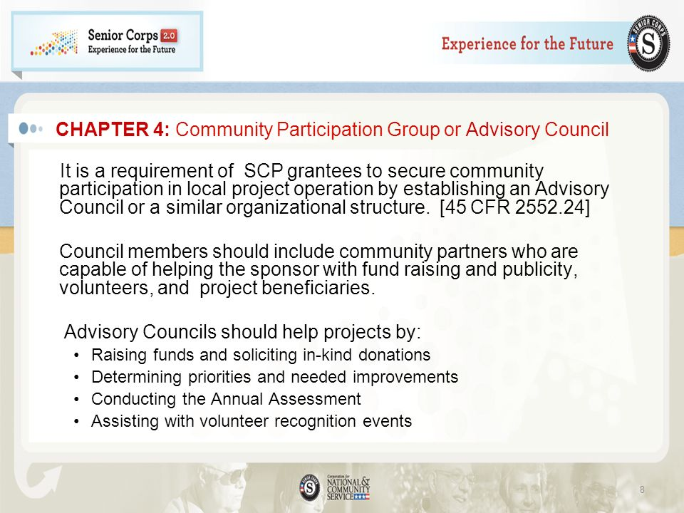 CHAPTER 4: Community Participation Group or Advisory Council