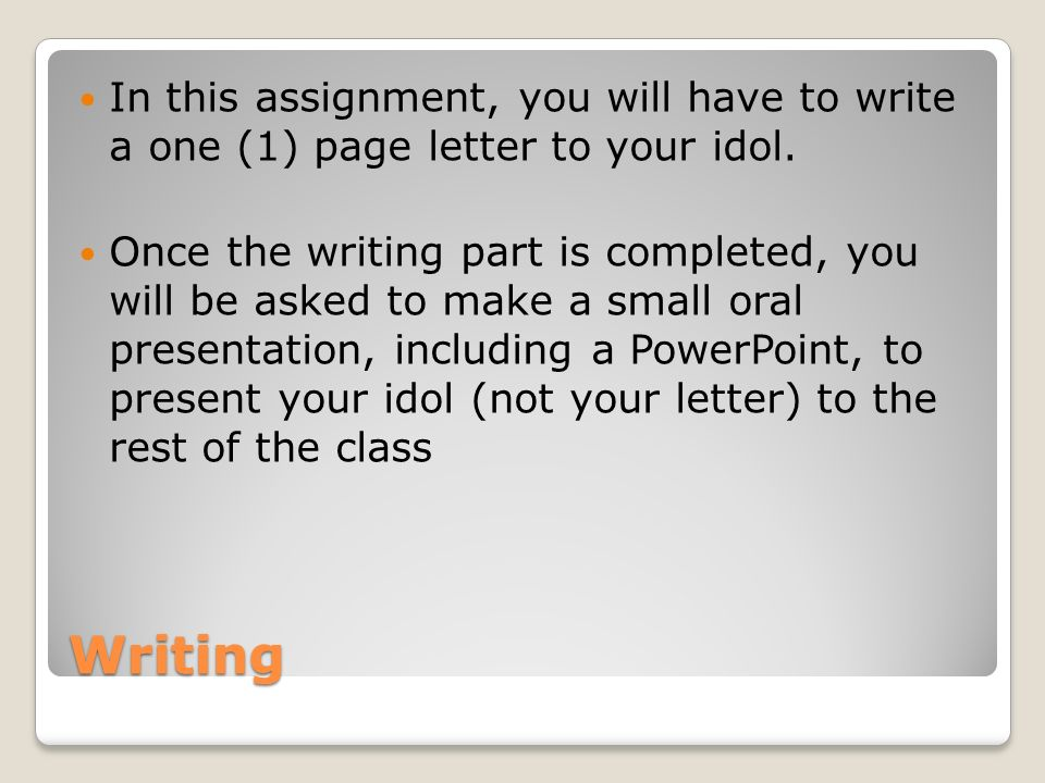 English Writing Assignment  Ppt Video Online Download