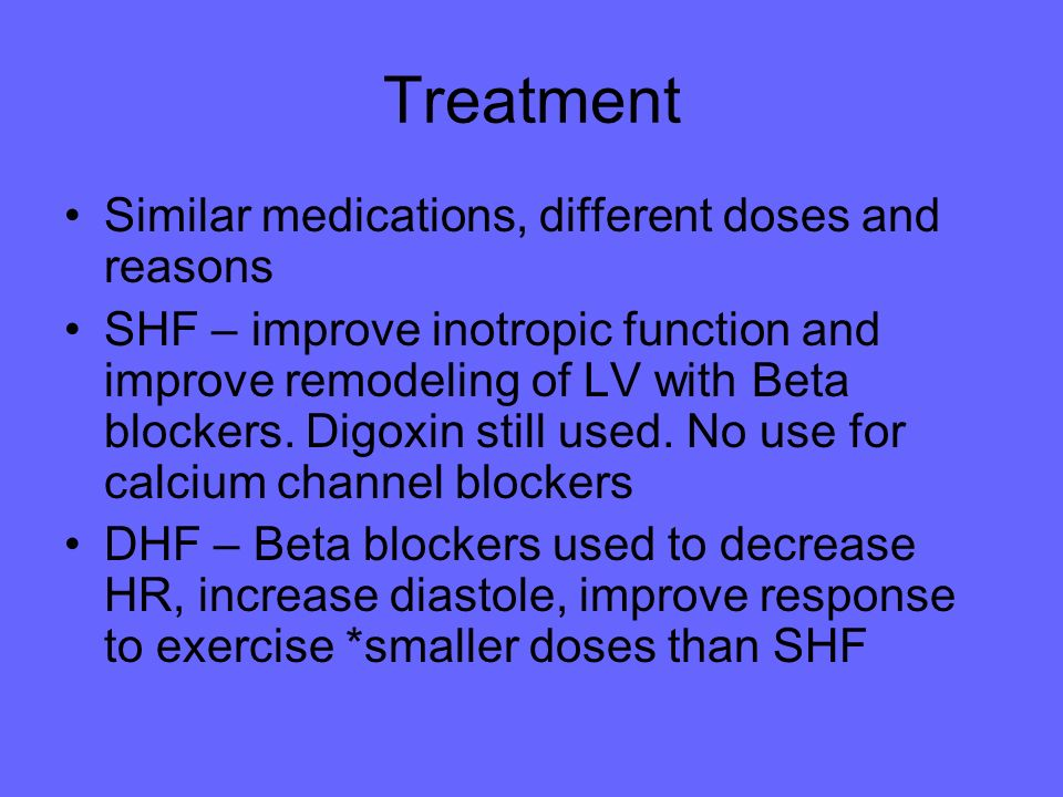 Treatment Similar medications, different doses and reasons