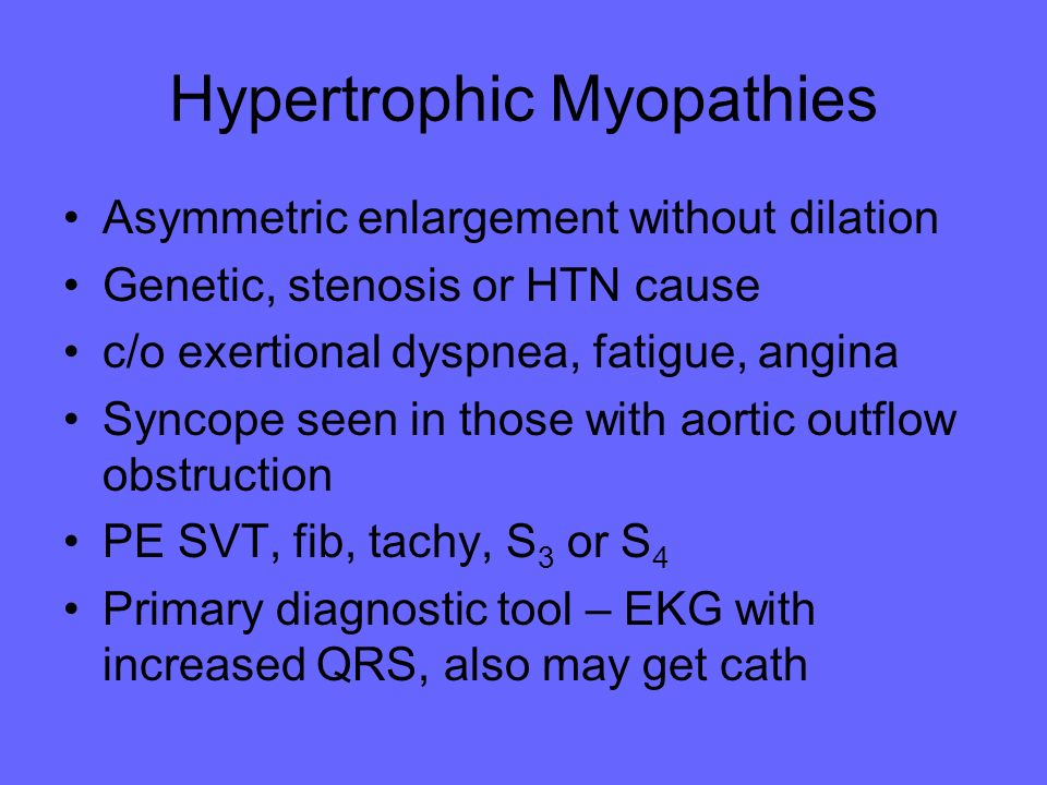 Hypertrophic Myopathies