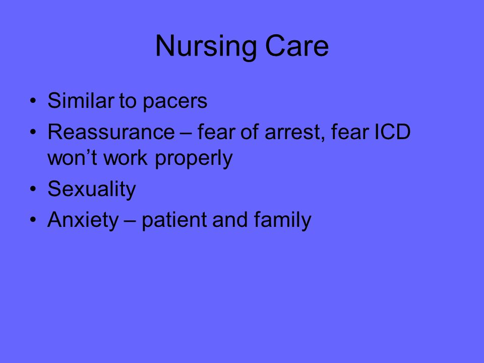 Nursing Care Similar to pacers