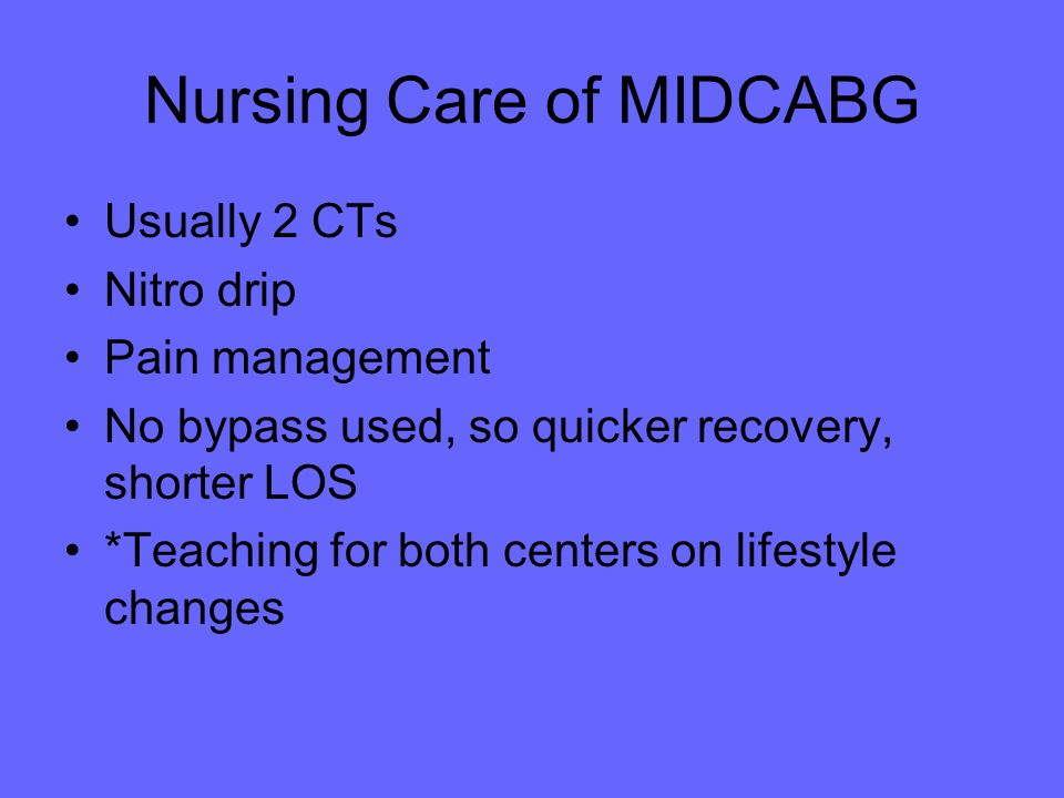 Nursing Care of MIDCABG