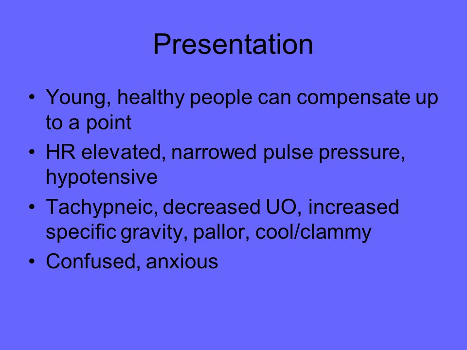 Presentation Young, healthy people can compensate up to a point
