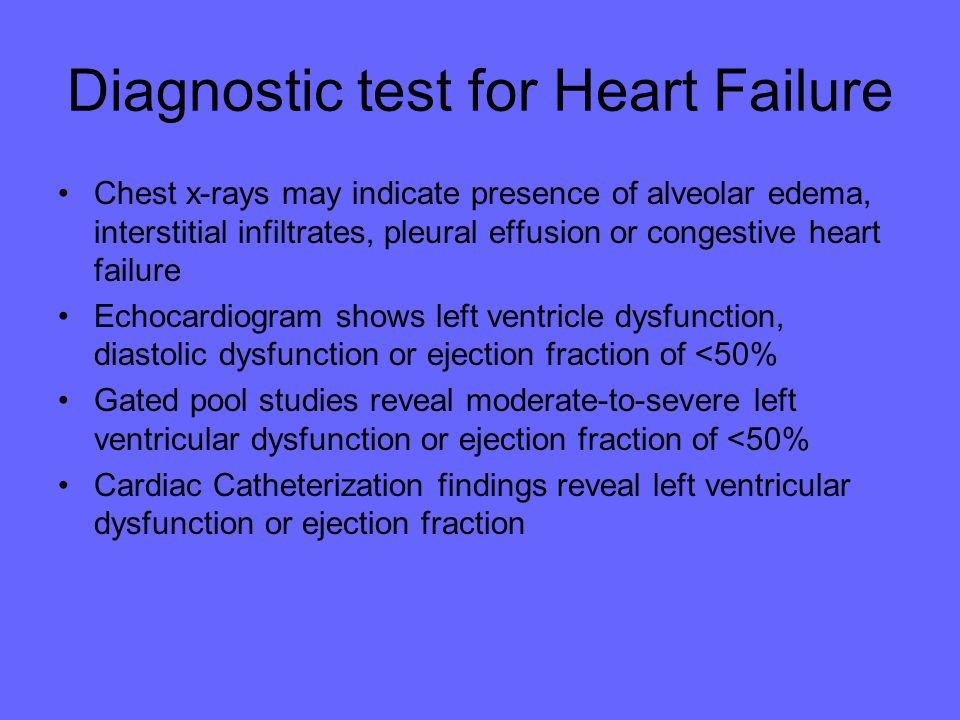 Diagnostic test for Heart Failure