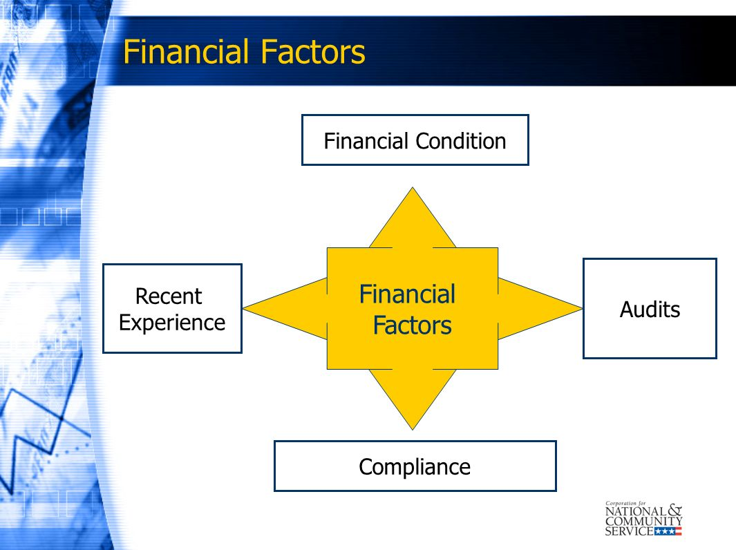 Financial Factors Financial Factors Financial Condition Recent Audits