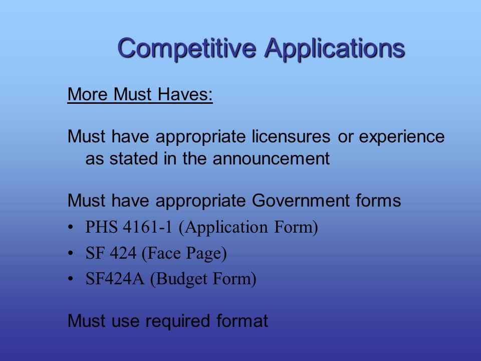 Competitive Applications
