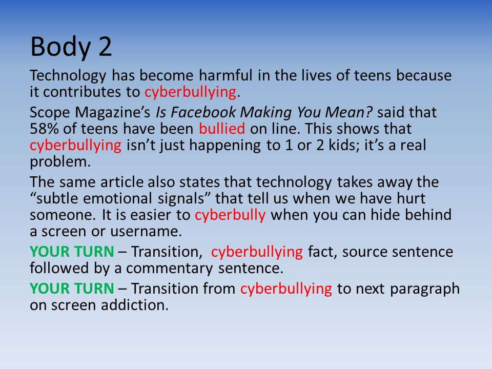 5 paragraph essay on bullying