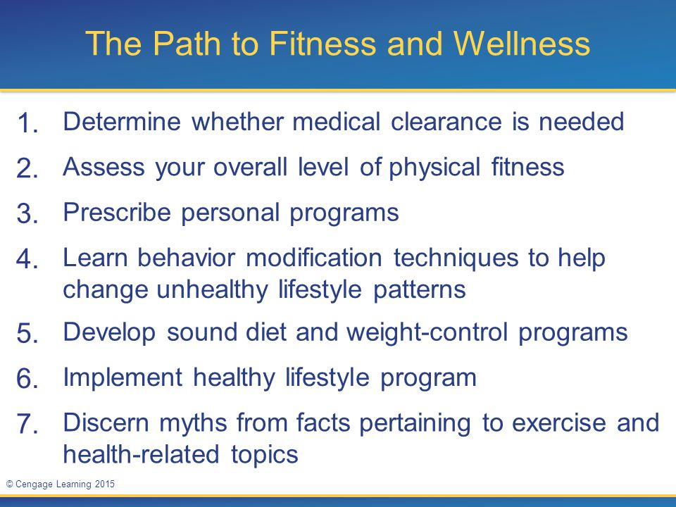 The Path to Fitness and Wellness