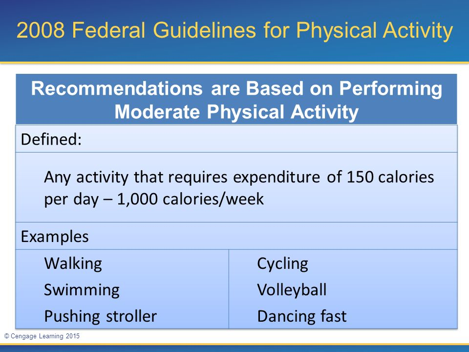 2008 Federal Guidelines for Physical Activity