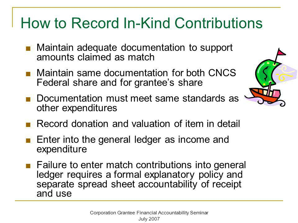 How to Record In-Kind Contributions