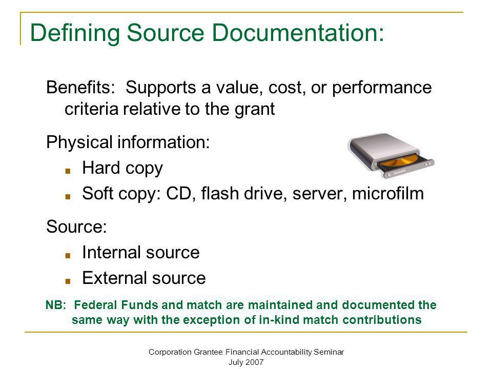 Defining Source Documentation: