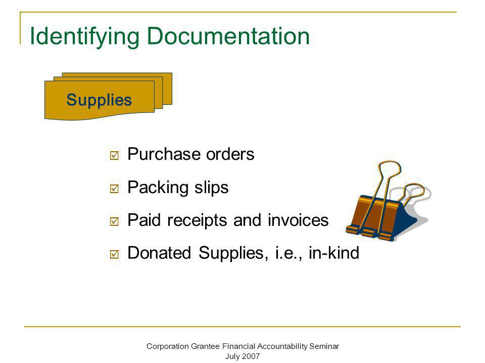 Identifying Documentation