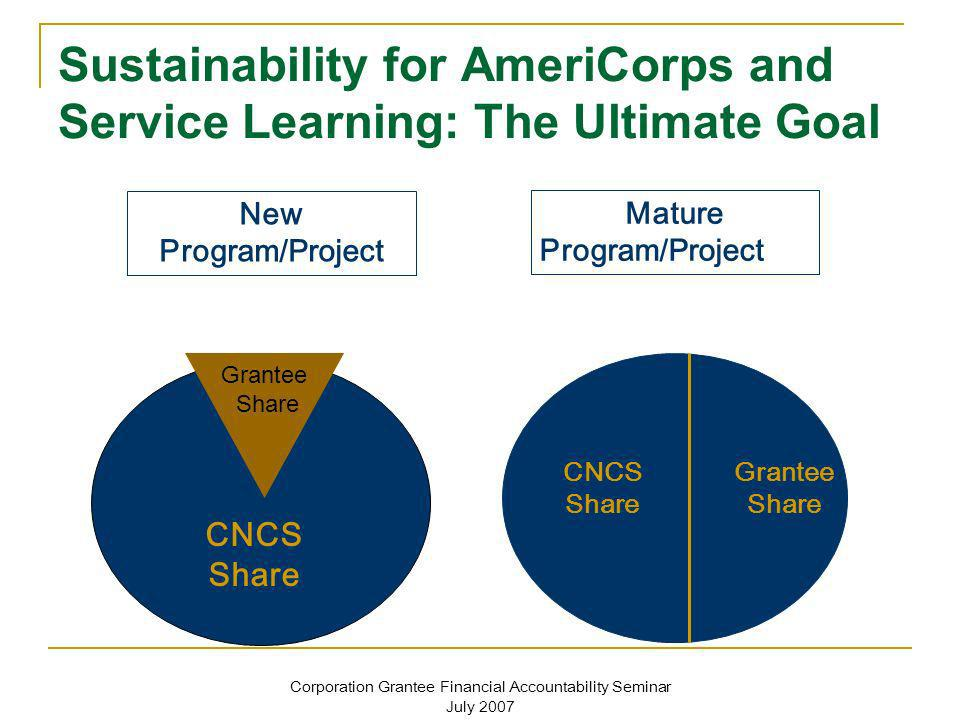 Sustainability for AmeriCorps and Service Learning: The Ultimate Goal