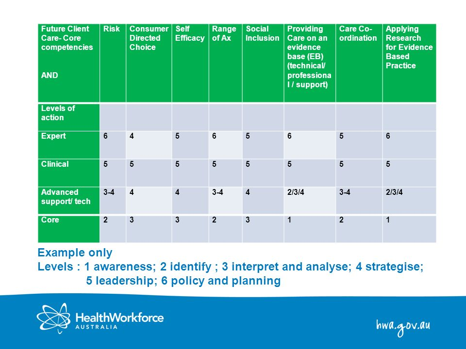 Future Client Care- Core competencies