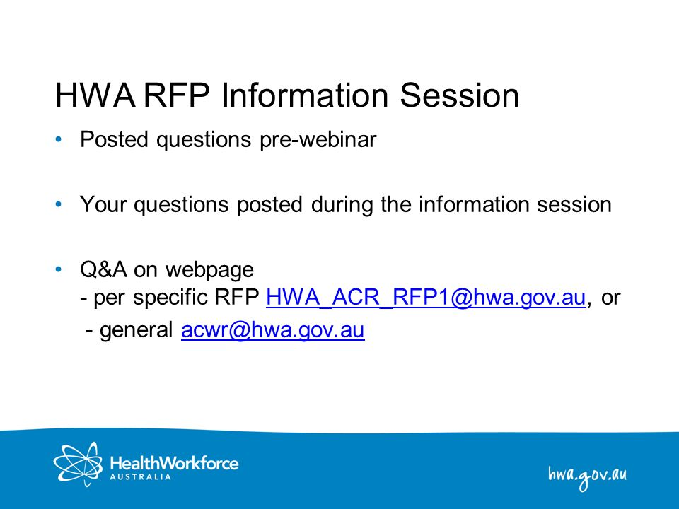 HWA RFP Information Session