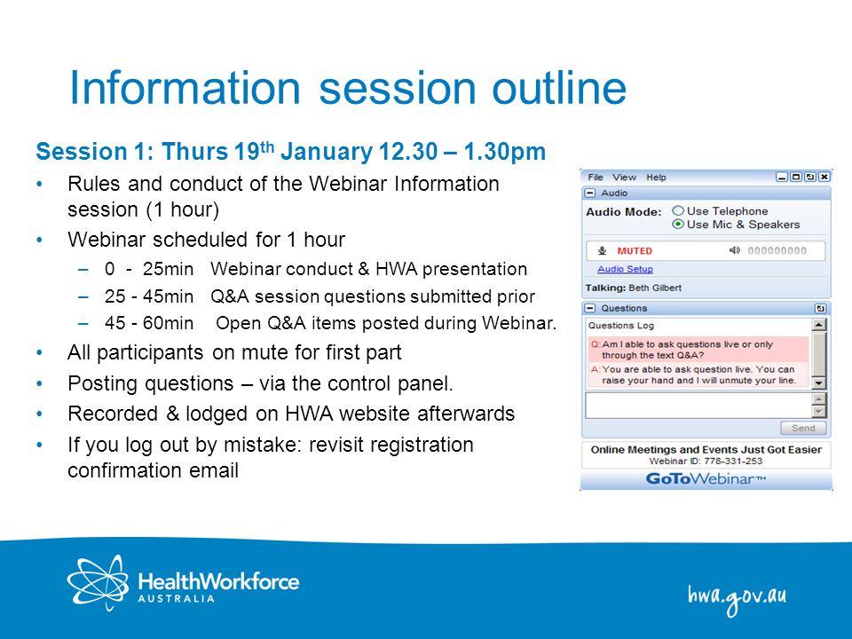 Information session outline