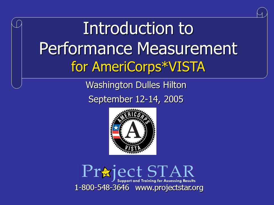 Introduction to Performance Measurement for AmeriCorps*VISTA