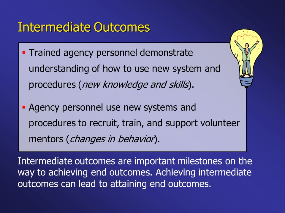 Intermediate Outcomes