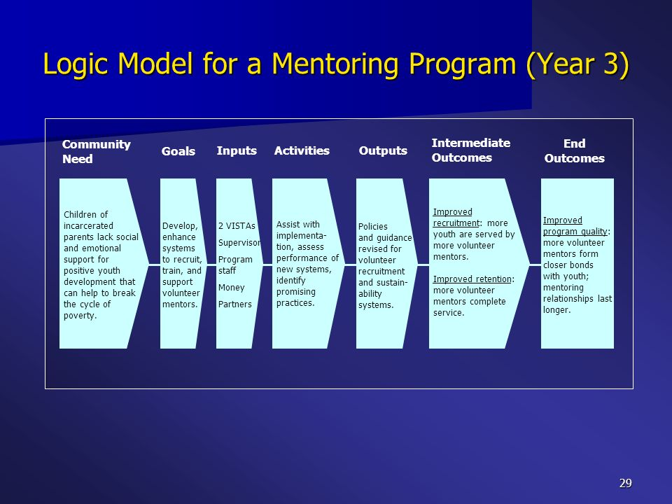 Logic Model for a Mentoring Program (Year 3)