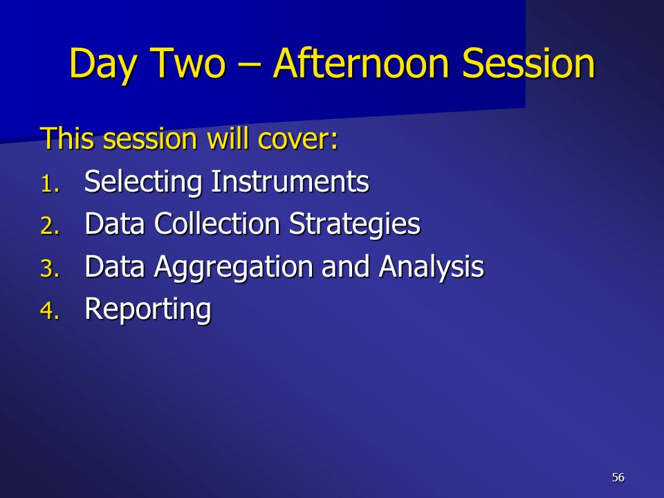 Day Two – Afternoon Session