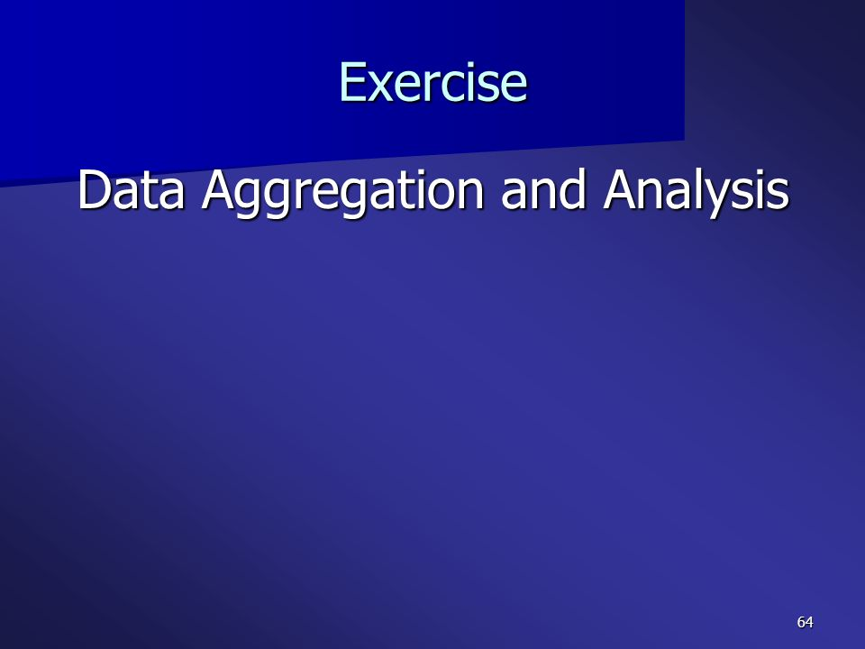 Data Aggregation and Analysis