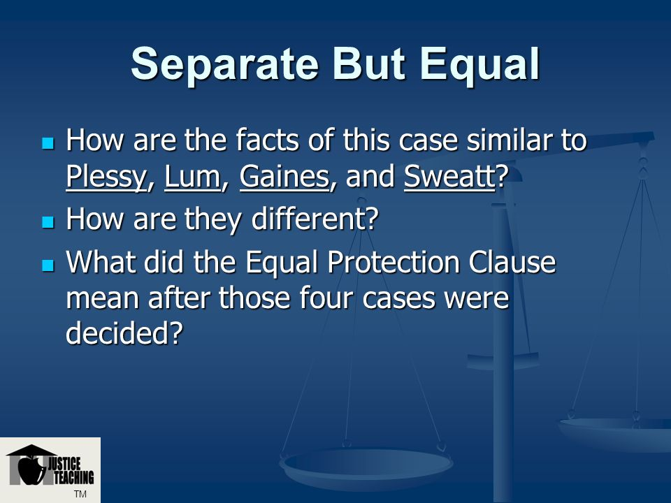 the effects of the equal protection clause on racial segregation in the public schools Choice, equal protection, and metropolitan integration: the hope of the minneapolis desegregation settlement myron orfield introduction the minneapolis-st paul.