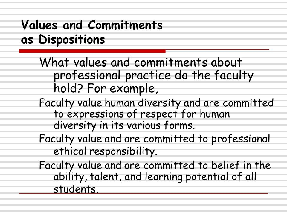 Values and Commitments as Dispositions