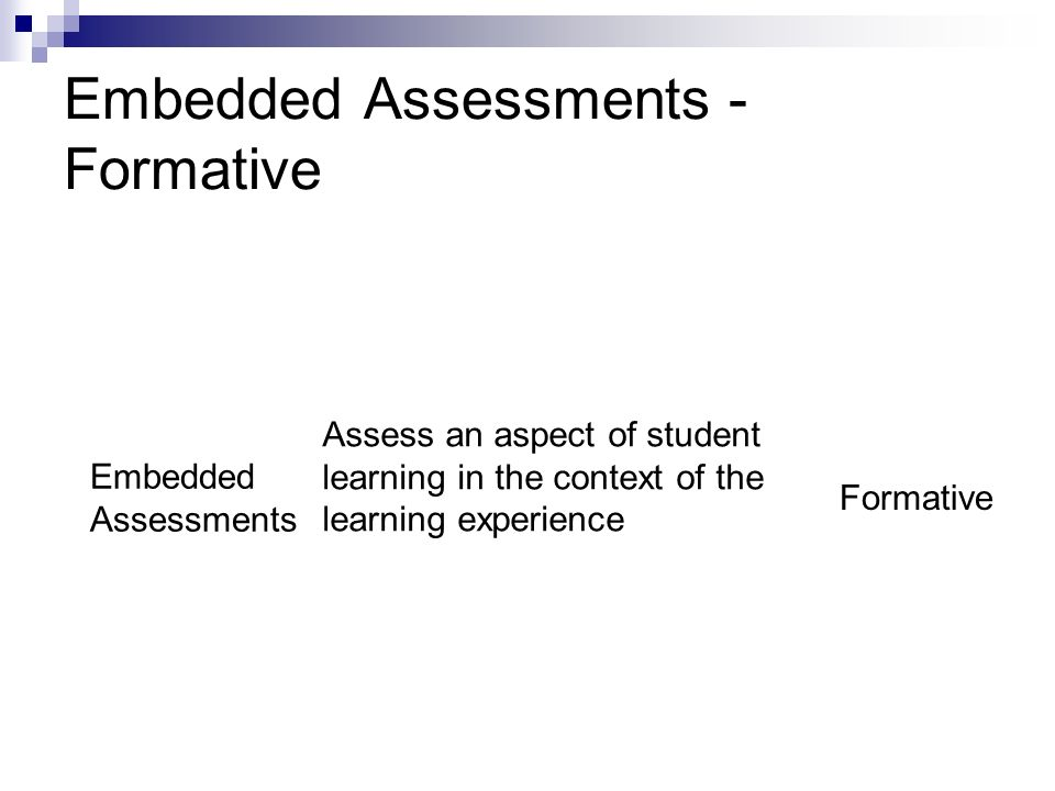 Embedded Assessments - Formative