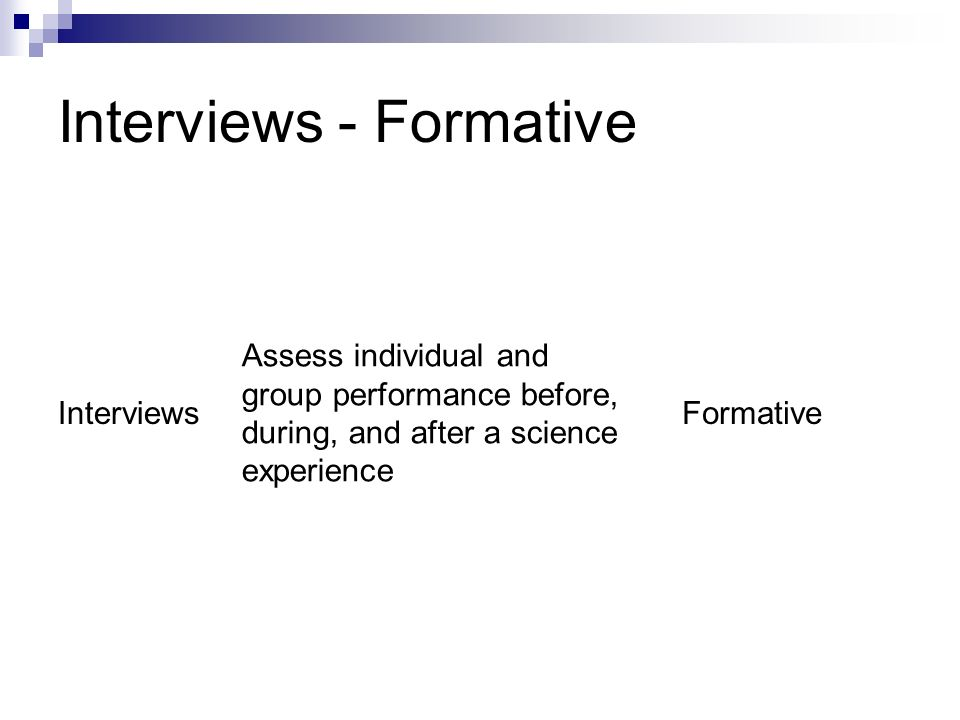 Interviews - Formative