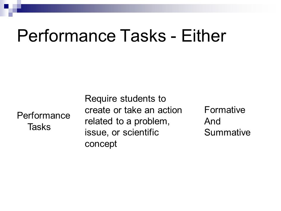 Performance Tasks - Either