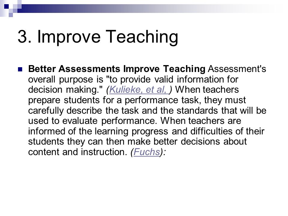 3. Improve Teaching