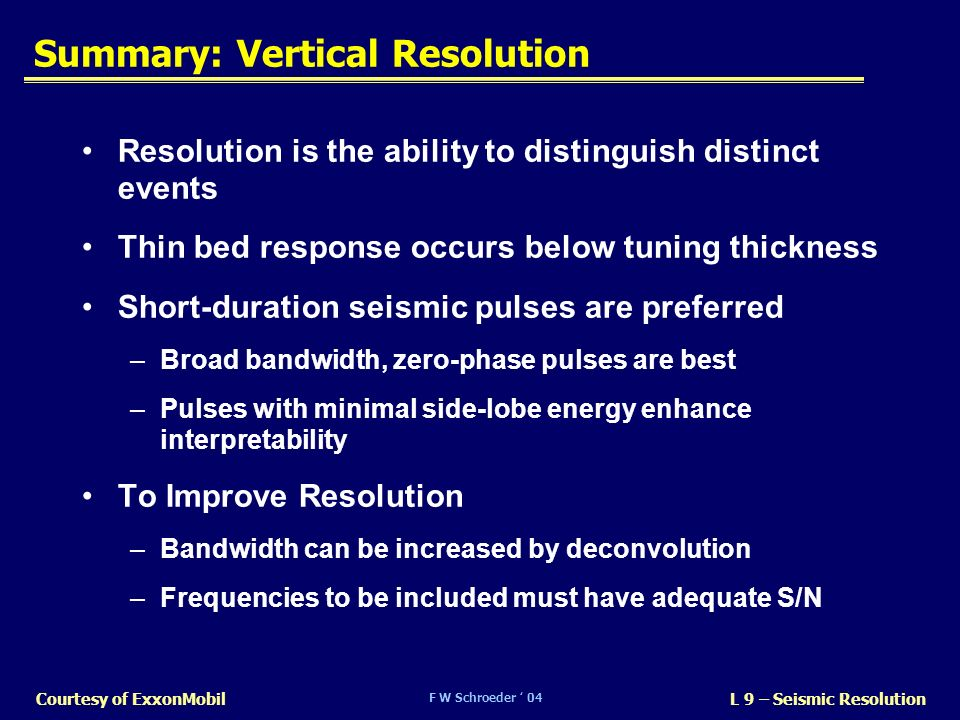 Summary: Vertical Resolution