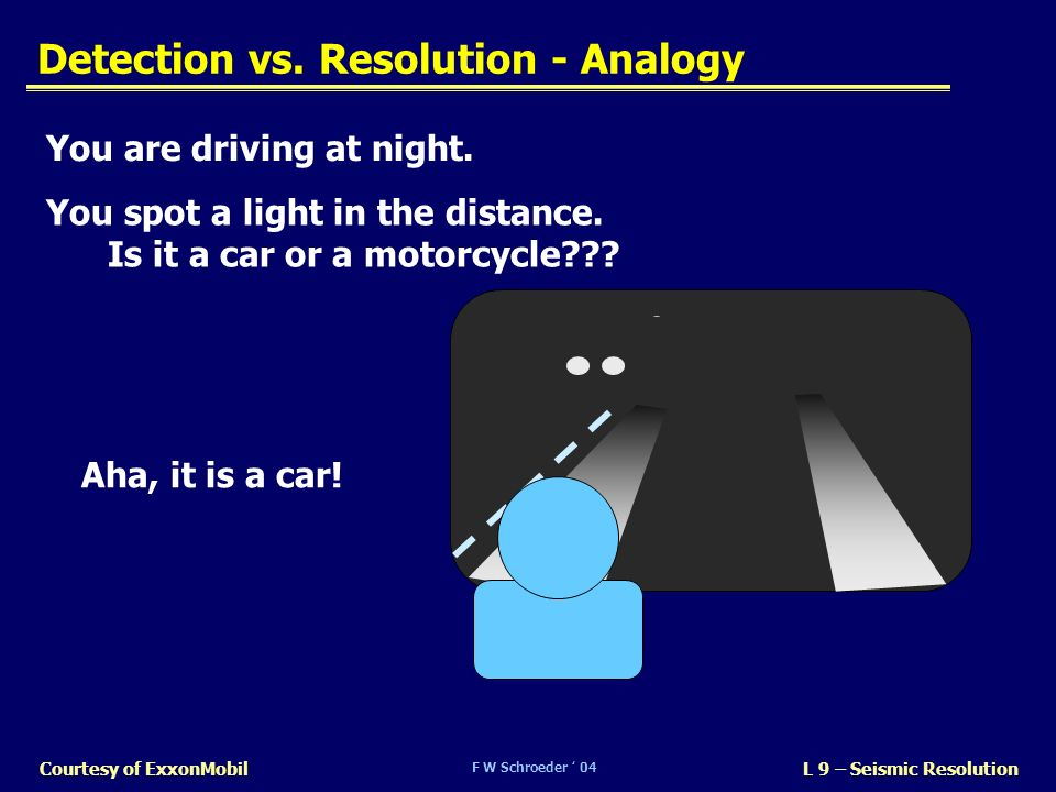 Detection vs. Resolution - Analogy