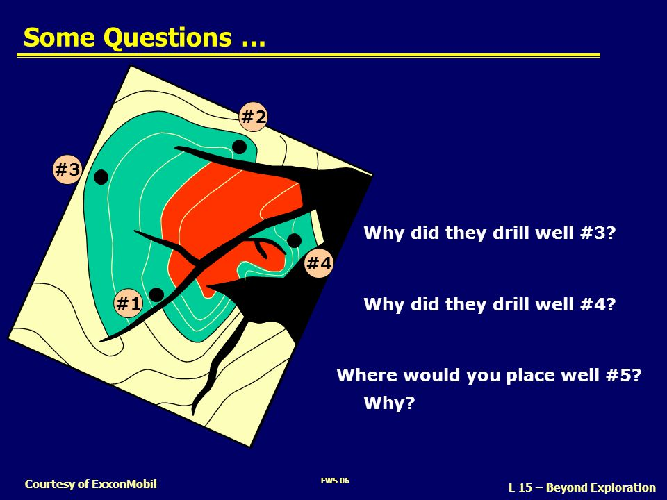 Some Questions … #2 #3 Why did they drill well #3 #4 #1