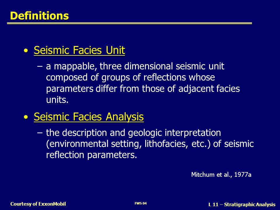 Seismic Facies Analysis