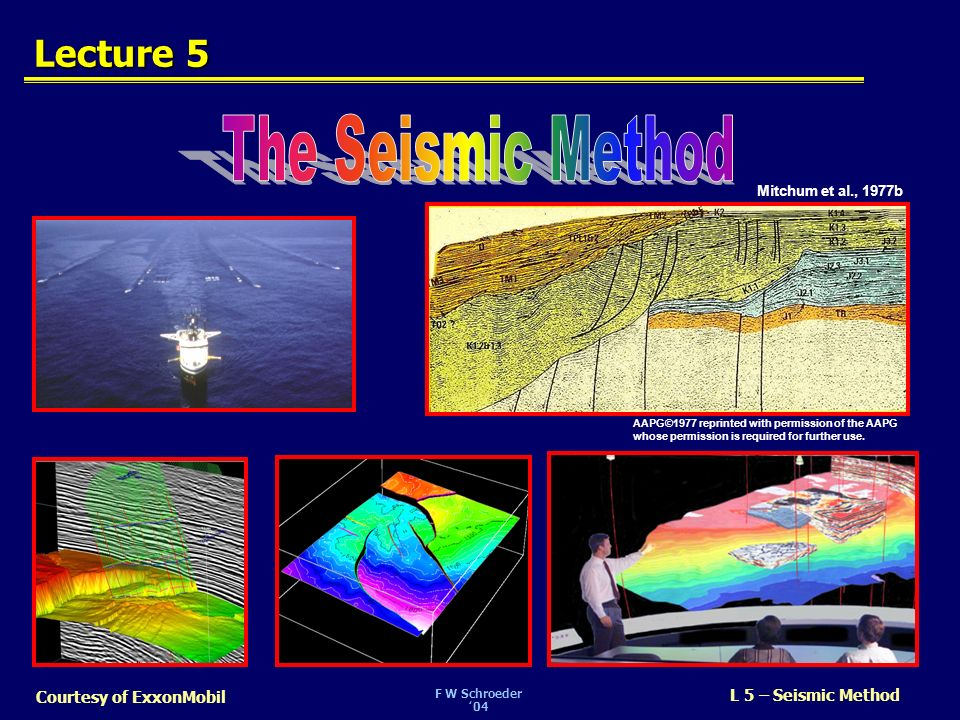 The Seismic Method Lecture 5 SLIDE 1