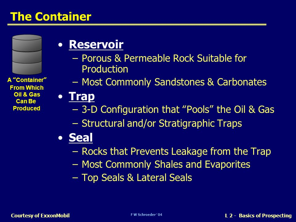 The Container Reservoir Trap Seal