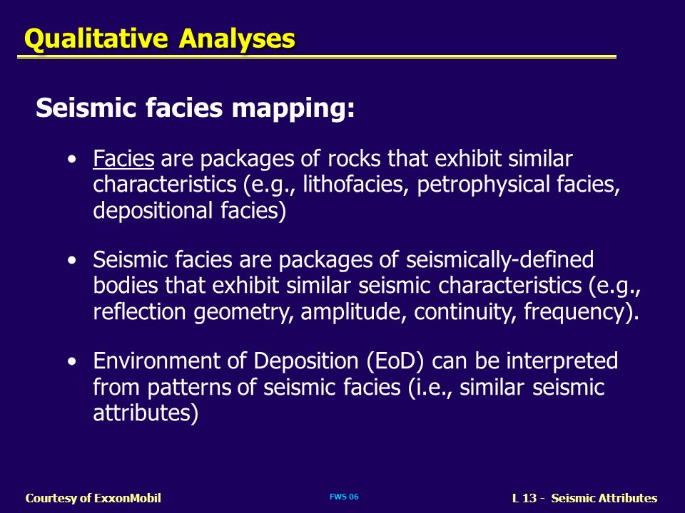 Seismic facies mapping: